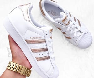 addidas, trainers, and watch image