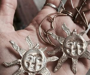 sun, aesthetic, and jewelry image