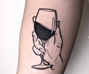 tattoo, wine, and art image