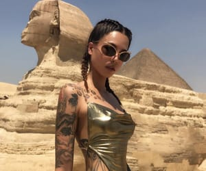 tattoo, girl, and egypt image