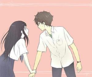 couple, anime, and anime girl image