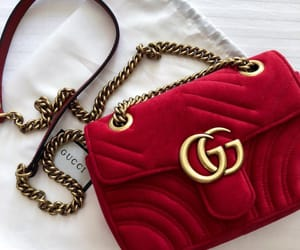 bag, gucci, and red image