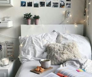 bed, decor, and room image