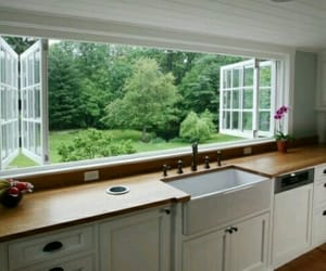 kitchen, window, and house image