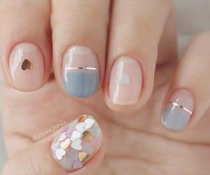 blue, pink, and nailart image