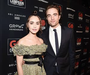 robert pattinson and lily collins image