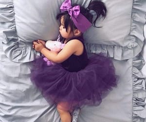 baby, purple, and cute image