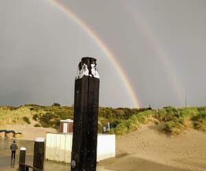 beach, dune, and rainbows image