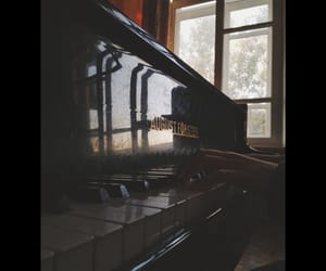 hands, music, and piano image