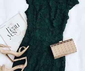 outfit, bag, and dress image