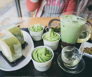 green tea, food, and yummy image