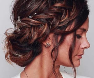 bride, brownhair, and hair image