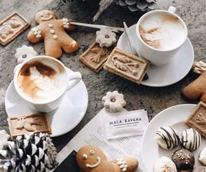 christmas, coffee, and food image