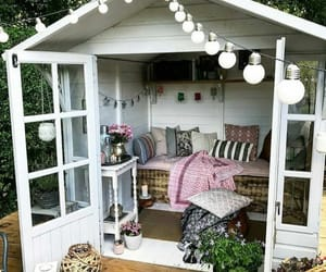 bedroom, garden, and home image
