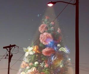 flowers, art, and night image