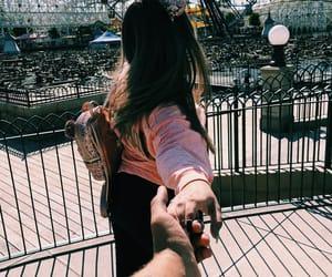 couple, disneyland, and goals image