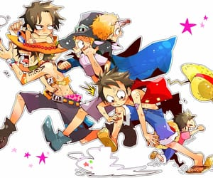 anime, monkey d. luffy, and portgas d. ace image
