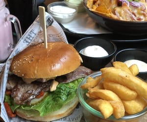 burger, cafe, and delicious image
