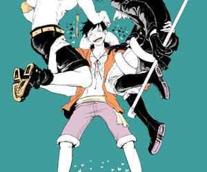 one piece, sabo, and luffy image