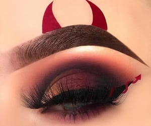 makeup, red, and Devil image