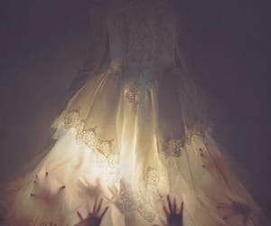 dress, hands, and dark image