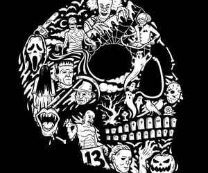 blanco y negro, calavera, and Halloween image