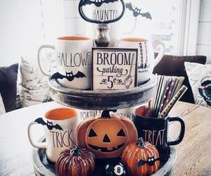 bat, pumpkin, and coffe image