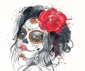 belleza, Halloween, and catrina image