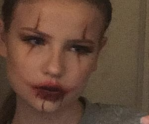 blood, clown, and eyeshadow image