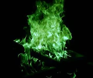 fire, green, and magic image