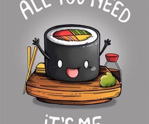 dibujo, divertido, and sushi image