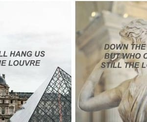 Lyrics, quotes, and the louvre image