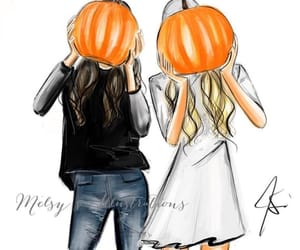 october, pumpkin, and friends image