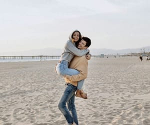 beach, grant gustin, and relationship goals image
