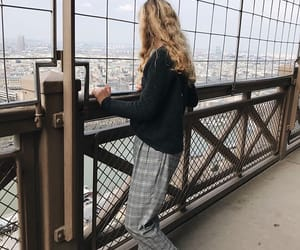 blonde, clothes, and eiffel tower image
