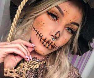 blonde, Halloween, and makeup image