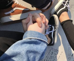 holdinghands, vans, and love image