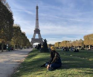 autumn, girl, and paris image