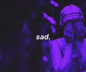 gif, purple, and sad image