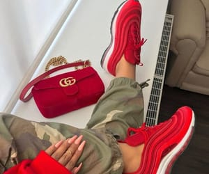 red, gucci, and nike image