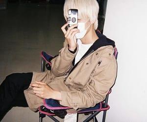blonde, polaroid, and boy image