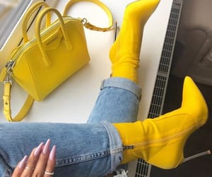 yellow, heels, and shoes image