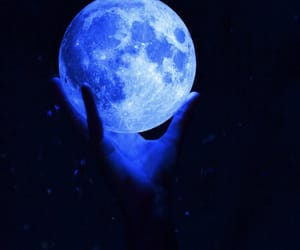 blue, aesthetic, and moon image