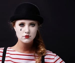 Halloween, mimes, and halloween costume image