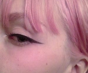 makeup, pink, and eyeliner image