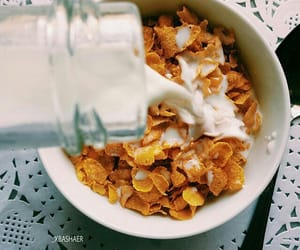 breakfast, food, and milk image