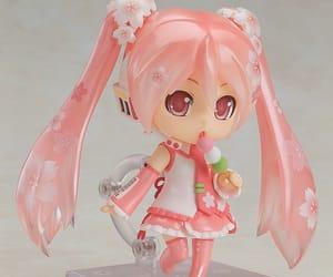 pink, nendoroid, and sakura miku image