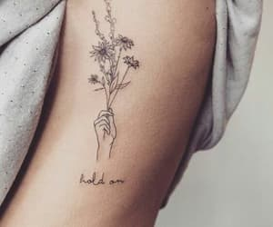 tattoo, flowers, and hand image