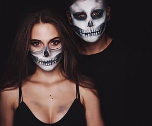 couple, Halloween, and makeup image