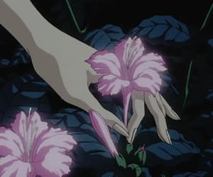 anime, flower, and pink image